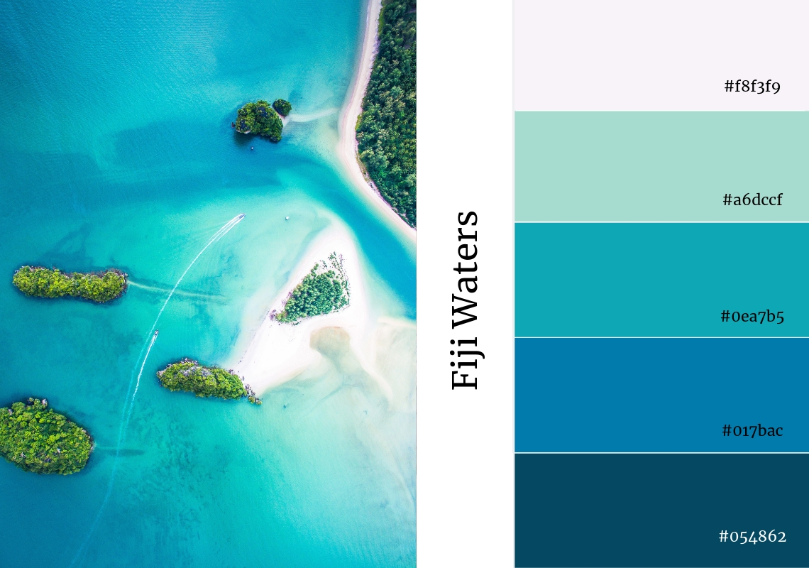 website colour scheme blues water