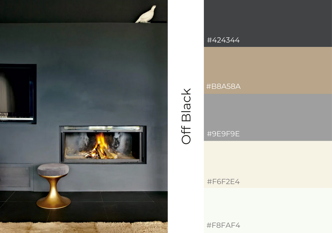 Antiques Web design webiste colours scheme farrow and ball off black