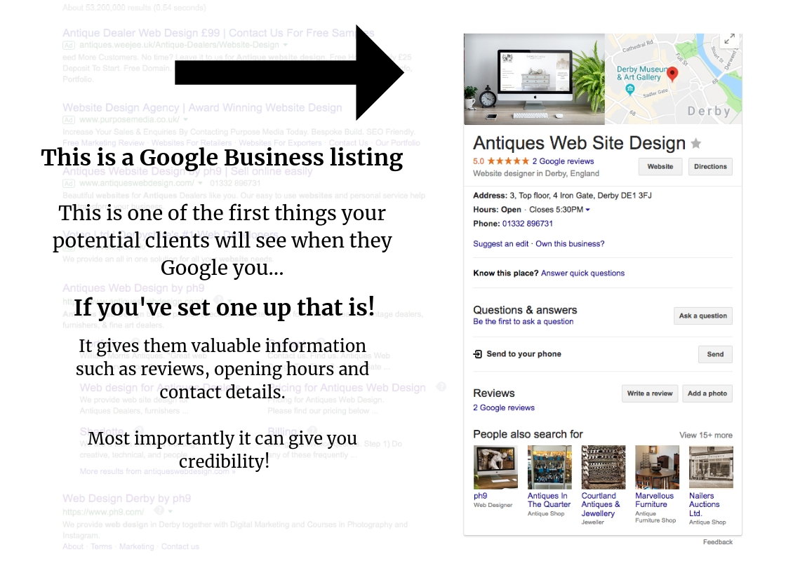 how to create a google business listing
