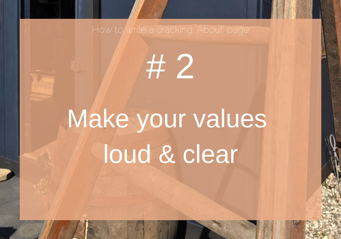 Make your values loud and clear