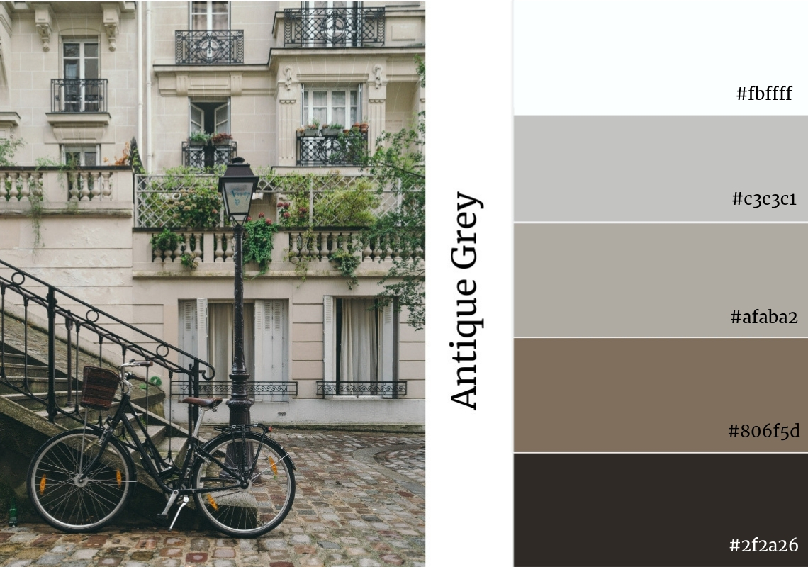 Antique Grey neutral colour palette