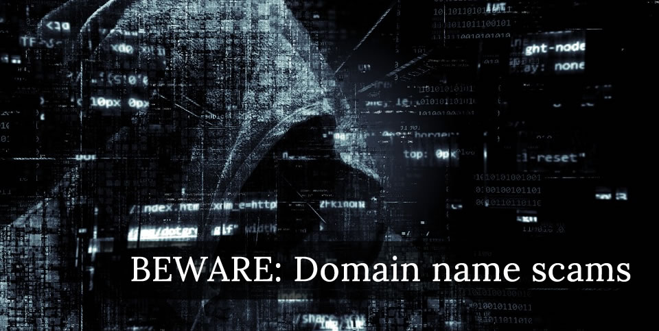 Beware of domain name scams