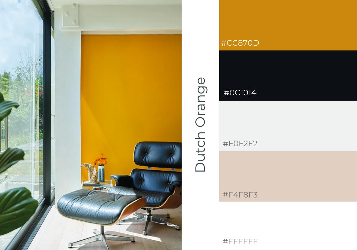 antiques web design website colour scheme farrow and ball dutch orange