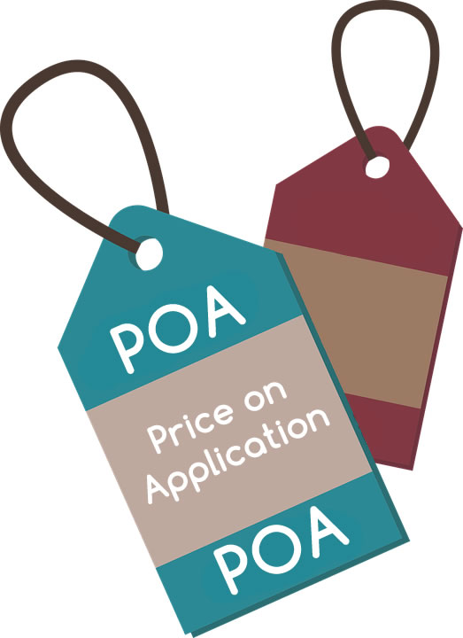 Avoid using Price on Application